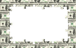 Geldrahmen Stockfoto