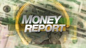 Geldrapport - TV toont Grafische Animatie stock videobeelden