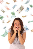 Geldregen (Eurobanknoten) Lizenzfreie Stockbilder