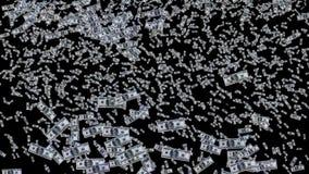Geldregen van dollarrekeningen stock illustratie