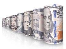 Geldreihe Stockbilder