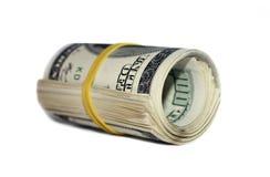 Geldrolle Stockfoto