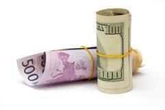 Geldrollen lizenzfreies stockfoto