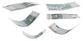 Geldschein des Euro fünf stockfotografie