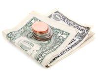 Geldschuß lizenzfreie stockfotografie