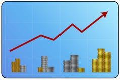 Geldschwerpunkt Stockfoto