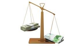 Geldskalen, Eurogewinne lizenzfreie abbildung