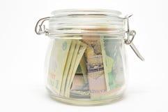 Geldsparungen Stockfoto