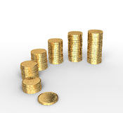 Geldstapel Stockfotos