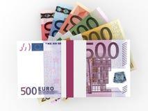 Geldstapel Euros Lizenzfreie Stockfotografie