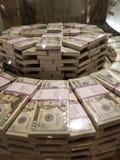 Geldstapels royalty-vrije stock foto's