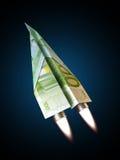 Geldstraal Stock Foto