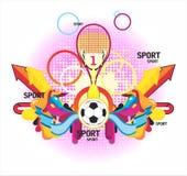 Geldstrafe sports symmetrischen Aufbau mit einem Cup und einem P Stockfoto