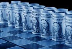 Geldstrategienkonzept Stockfotografie