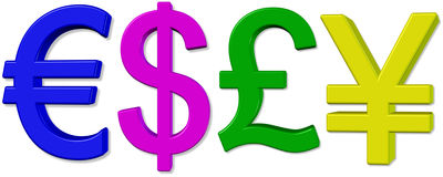 Geldsymbol. Stockfotografie