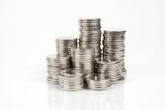 Geldtürme Stockbild