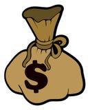 Geldtasche auf Lager stock abbildung