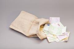 Geldtasche mit Euro Lizenzfreie Stockbilder
