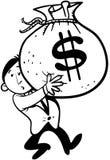Geldtragen Lizenzfreies Stockbild
