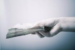 Geldtransaktion Stockfotos