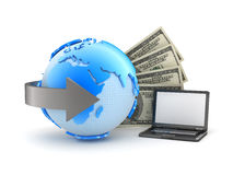 Geldtransaktionen - Konzeptabbildung Stockfotografie