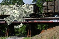 Geldtrein Stock Afbeelding