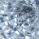 Geldturbulenz von 20-Euro - Scheinen Lizenzfreies Stockfoto