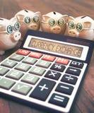 Geldumtausch-Geschäfts-Finanzierung Stockbild