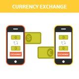 Geldumtausch-Konzept lizenzfreie abbildung
