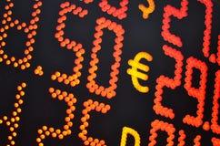 Geldumtausch-Rate Stockbilder