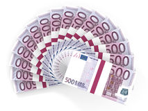 Geldventilator Vijf honderd euro vector illustratie