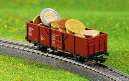 Geldvervoer royalty-vrije stock foto