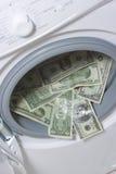 Geldwäsche. Geldreinigungskonzept Lizenzfreies Stockbild