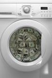 Geldwäscherei Stockbild