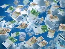 Geldwäscherei, Himmel auf dem Hintergrund Stockbilder