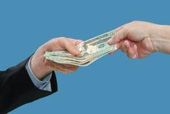 Geldwechsel Lizenzfreies Stockfoto