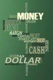 Geldwortwolke. Lizenzfreie Stockfotos