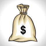 Geldzak met de vectorillustratie van het dollarteken Stock Fotografie
