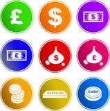 Geldzeichenikonen lizenzfreie abbildung