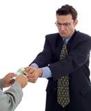 Geldziehen Lizenzfreie Stockfotografie