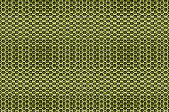 Gele aan zwarte patroonachtergrond met pentagonen Royalty-vrije Stock Fotografie