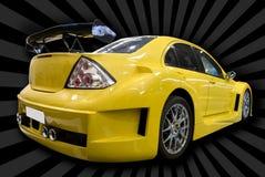 Gele aangepaste auto Royalty-vrije Stock Fotografie