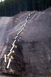 Gele aardgasleiding Royalty-vrije Stock Afbeelding