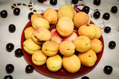 Gele abrikoos Stock Afbeelding