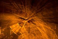 Gele abstracte achtergrond Stock Afbeeldingen