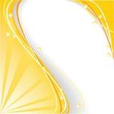 Gele abstracte achtergrond Royalty-vrije Stock Afbeelding