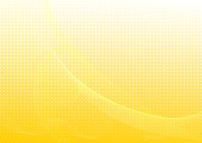 Gele abstracte achtergrond met golven Royalty-vrije Stock Afbeelding