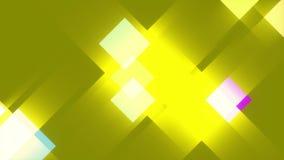Gele abstracte achtergrond, vierkanten, lijn royalty-vrije illustratie