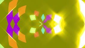 Gele abstracte achtergrond, vierkanten, lijn stock footage
