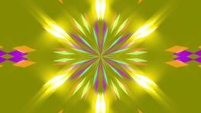 Gele abstracte achtergrond, vierkanten, lijn stock videobeelden